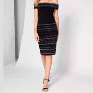 Ted Baker Diraz Bardot Bodycon Dress TB 0 / US 2